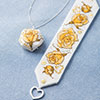 Yellow Rose Bracelet & Pendant